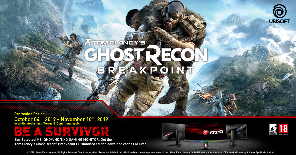Ghost Recon Breakpoint Game Bundle   Gaming Monitor   MSI