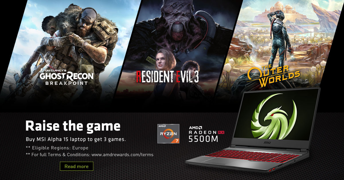 2020 Radeon Raise The Game Bundle