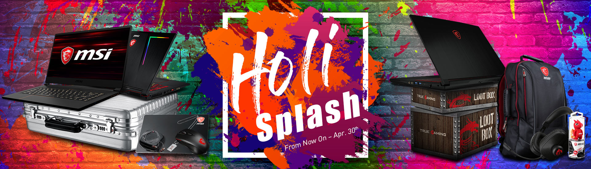 Holi splash