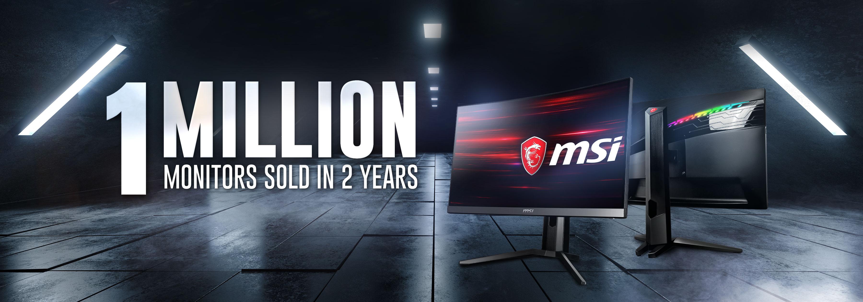 1 milione di Monitor Gaming venduti