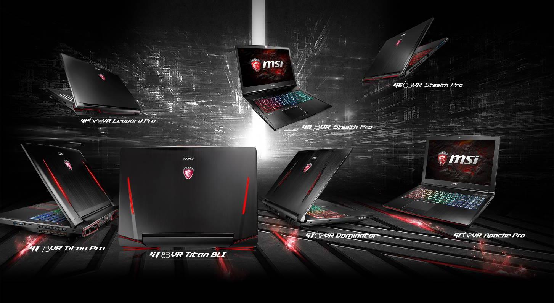 Abbatti i Cliché sulle Performance Desktop MSI è il primo marchio al mondo a lanciare sul mercato linee di notebook compatti che montano le serie grafiche GeForce® GTX 10!