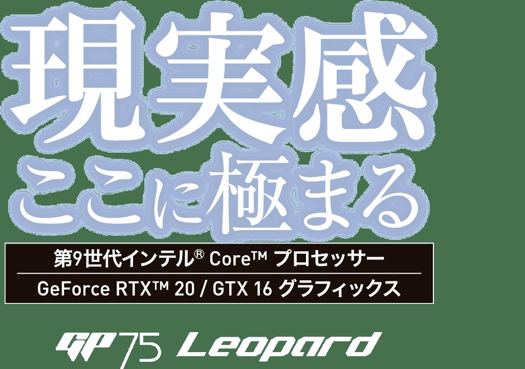 現実感ここに極まる - GP75 Leopard