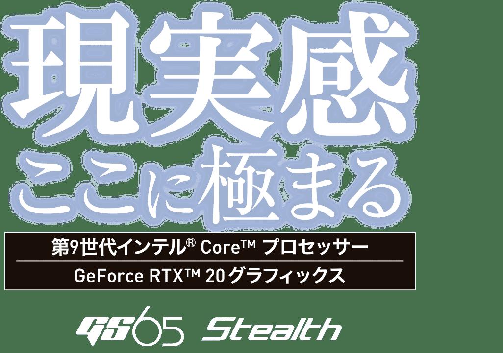現実感ここに極まる - GS65 Stealth