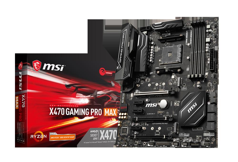 MSI、第3世代AMD Ryzenプロセッサに最適化した 「X470 GAMING PRO MAX」と「B450-A PRO MAX」を追加