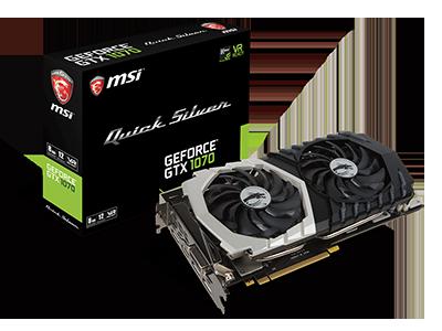 MSI libera la Edición Limitada de Tarjetas Gráficas Quick Silver<br> Geforce GTX 1070 Quick Silver 8G - JUEGA con estilo