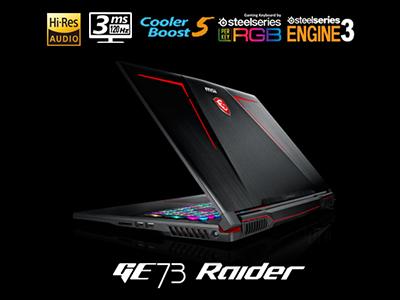 MSI anuncia la GE63VR/73VR Raider. La revolución que se viene.