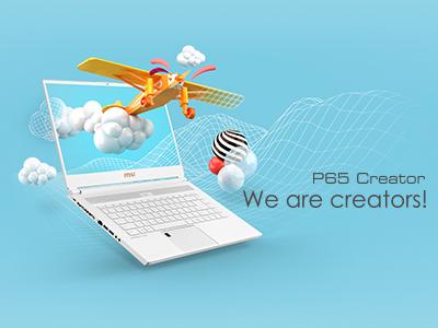 MSI lanza P65 Creator para las mentes creativas