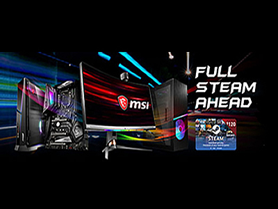 ¡POTÉNCIATE CON LA MEJOR PC GAMING MSI! RECARGA TU CARTERA STEAM.  LUCHA POR LA VICTORIA CON MSI.