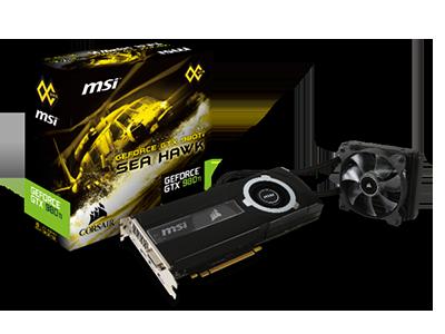 MSI y Corsair colocan lo mejor en refrigeración por aire y líquido en la GeForce GTX 980Ti SEA HAWK