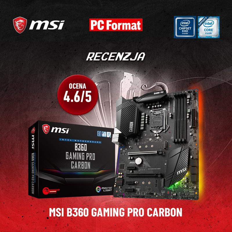 MSI B360 Gaming Pro Carbon w PC Format