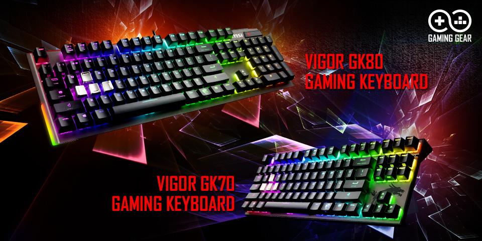 Test gamingowych klawiatur GK70 i GK80 od MSI