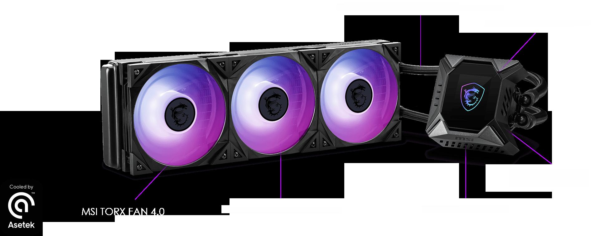 msi CoreLiquid K360 с Asetek