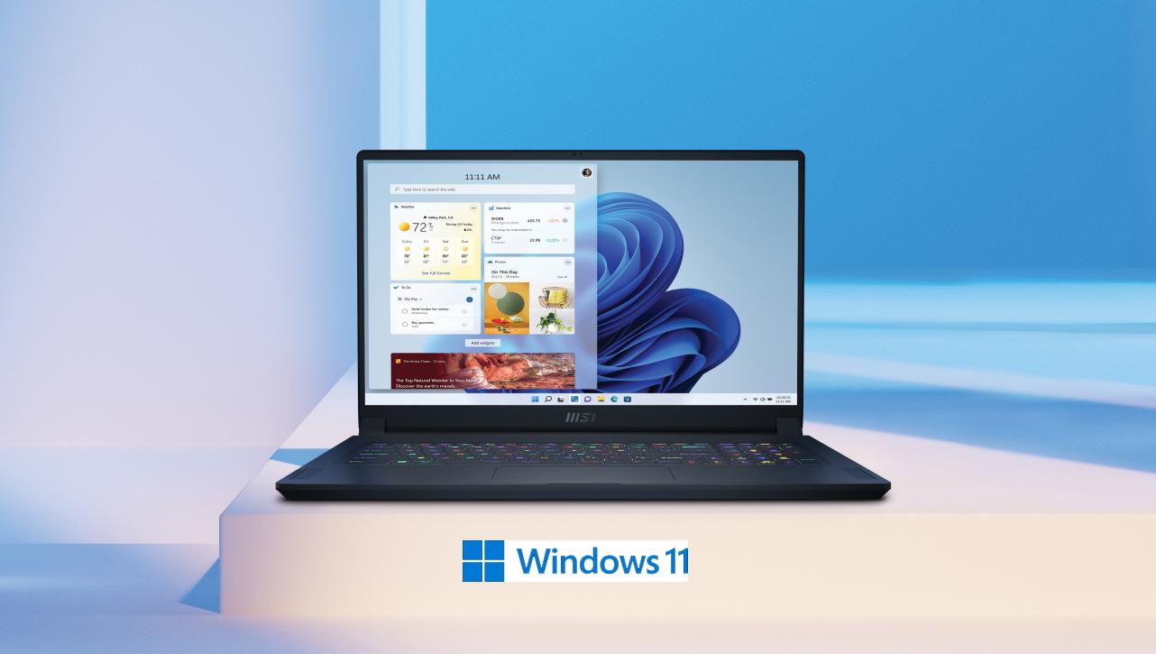Ноутбуки MSI готовы к переходу на Winows 11