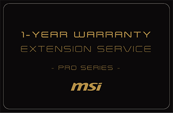 1Y WARRANTY EXTENSION