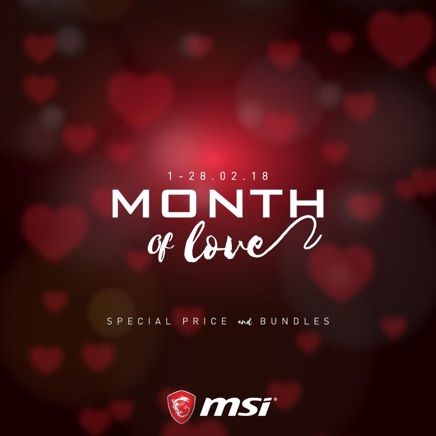 MSI Notebook ผู้นำด้านเครื่องเล่น Gaming มอบโปรโมชั่นพิเศษในเดือนแห่งความรักทั้งเดือน