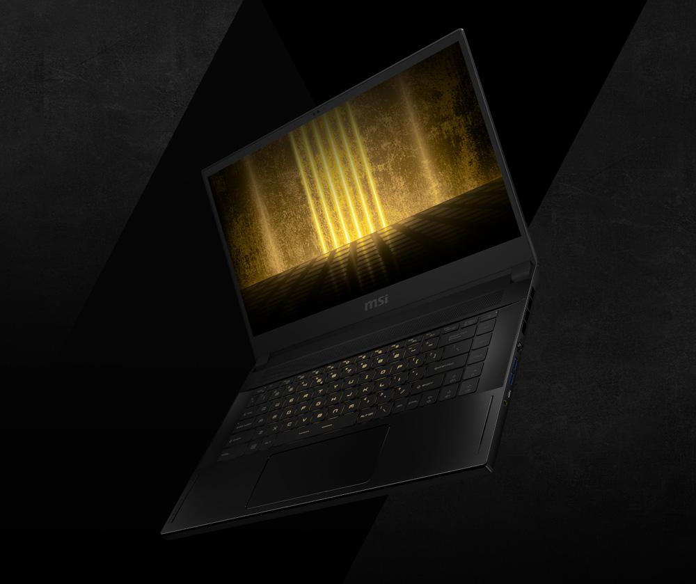 PerKey laptop goldsplash