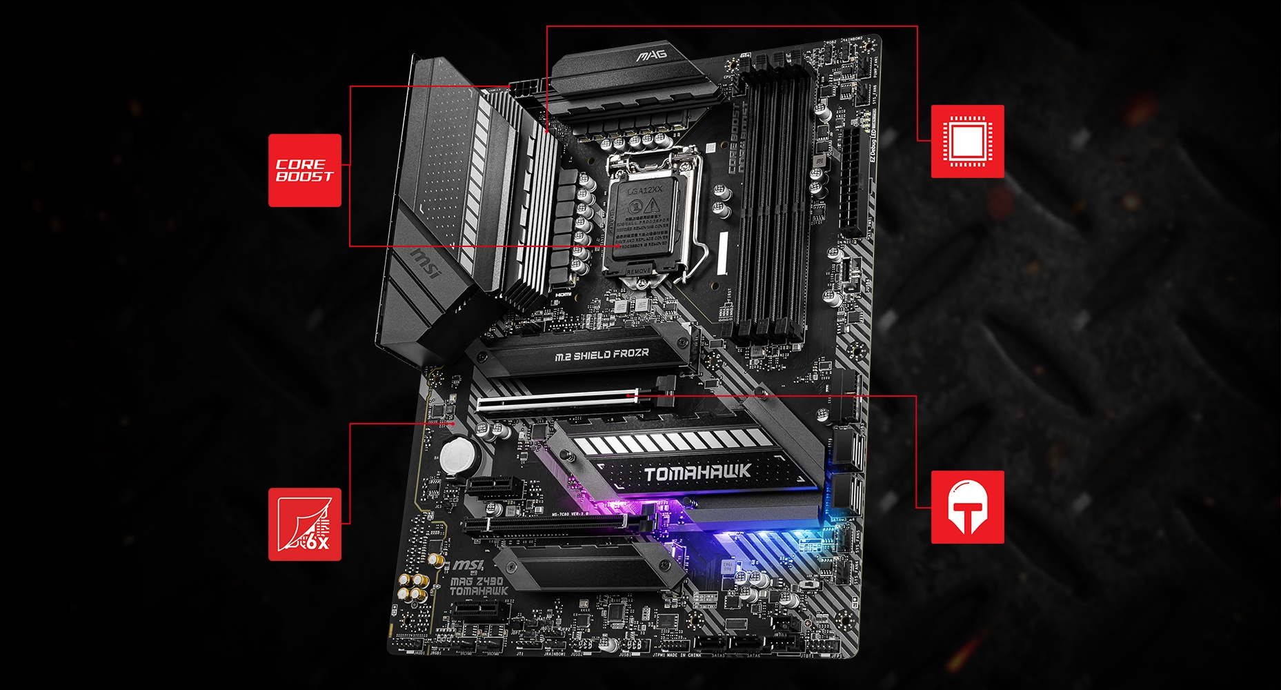 MSI MAG Z490 TOMAHAWK CORNERSTONE overview