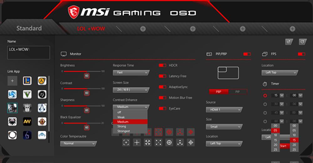 MSI Optix OSD APP