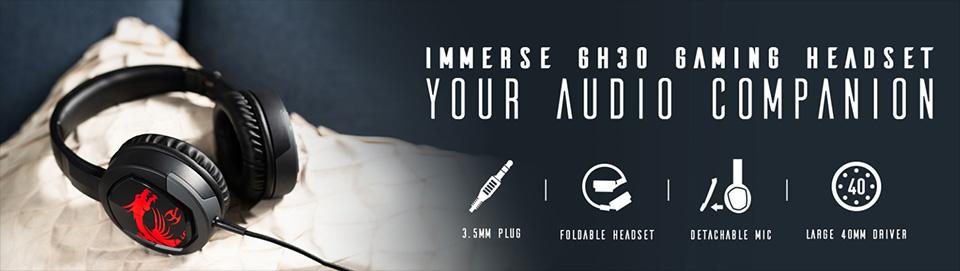GH30折疊式電競耳機