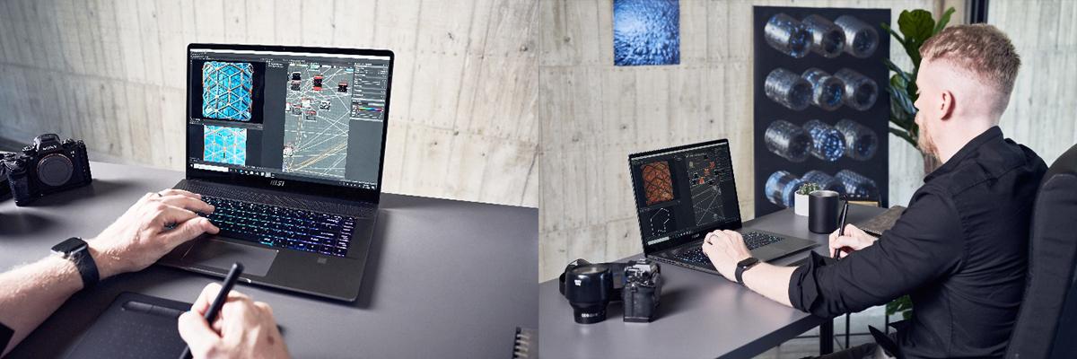 搭配True Pixel顯示技術能為創作者與設計師提供最精準且鮮明的色彩