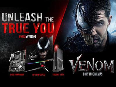 MSI у співпраці зі студією Sony Pictures до виходу  фільму Веном. Розпочинає глобальну маркетингову кампанію