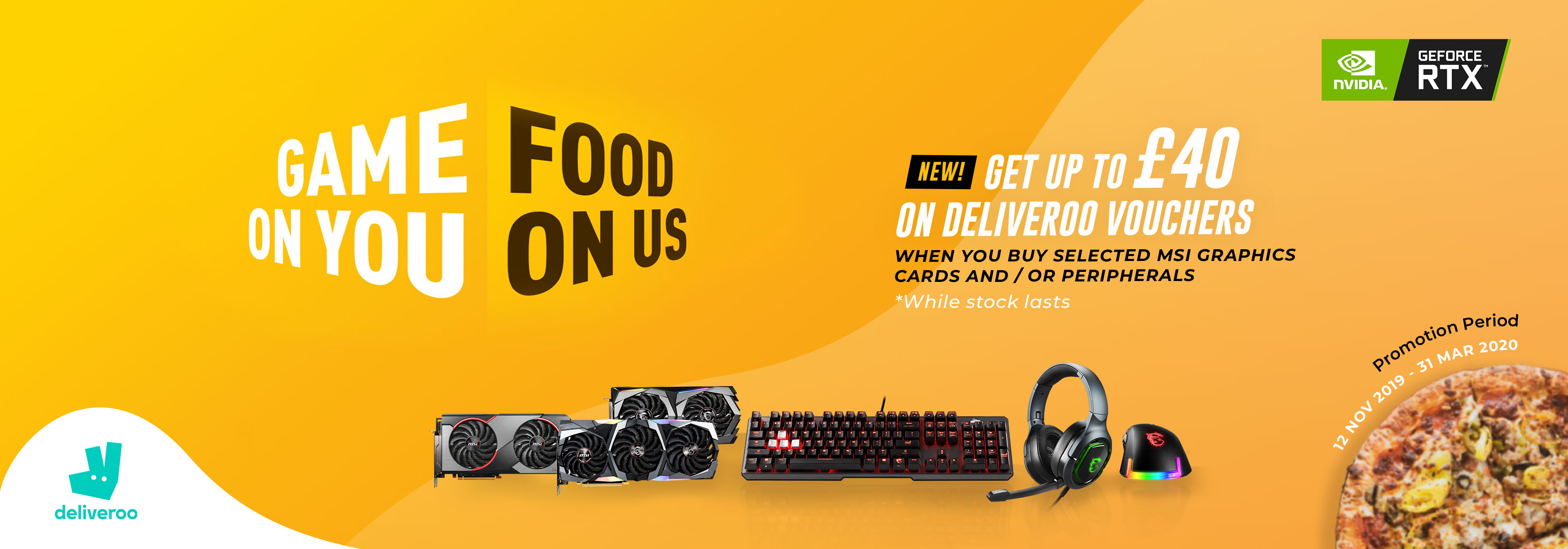 Game On You, Food On Us