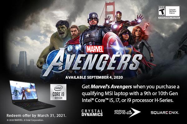 Intel Marvel's Avengers Gaming Bundle