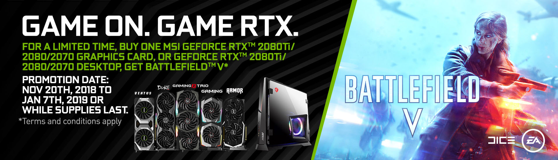 GAME ON. GAME RTX.