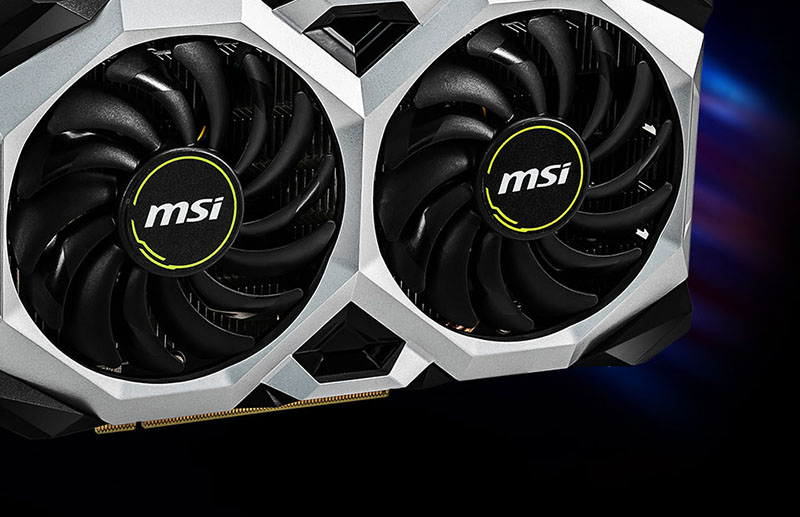 MSI Geforce 1660 Ventus with dual TORX 2.0 fan design.