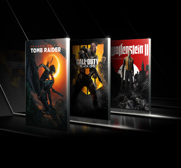 3 Game Covers - Shadow of the Tomb Raider, Call of Duty - Black Ops 3, Wolfenstein 2.