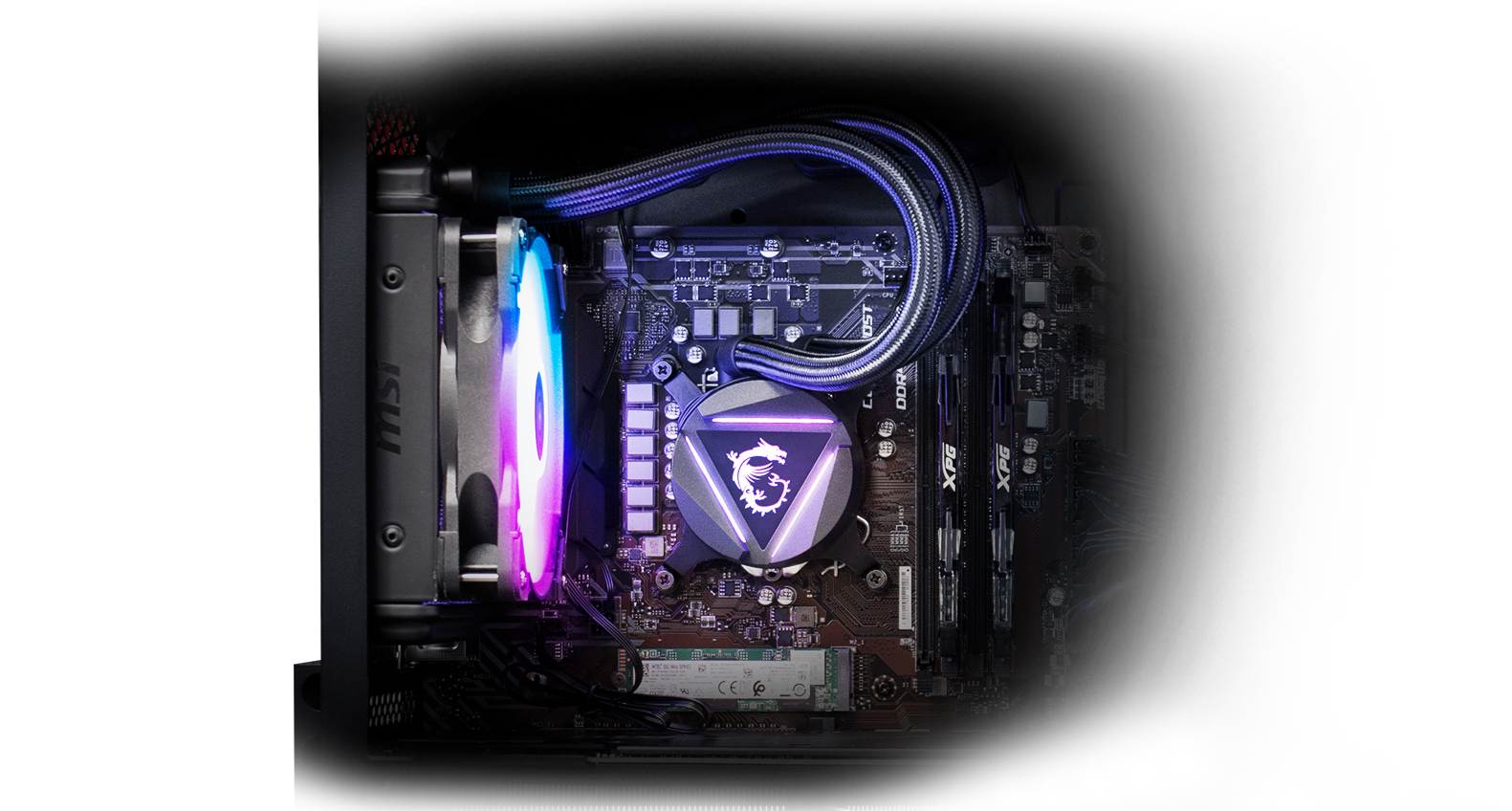 Aegis RS with dragon liquid cooling.