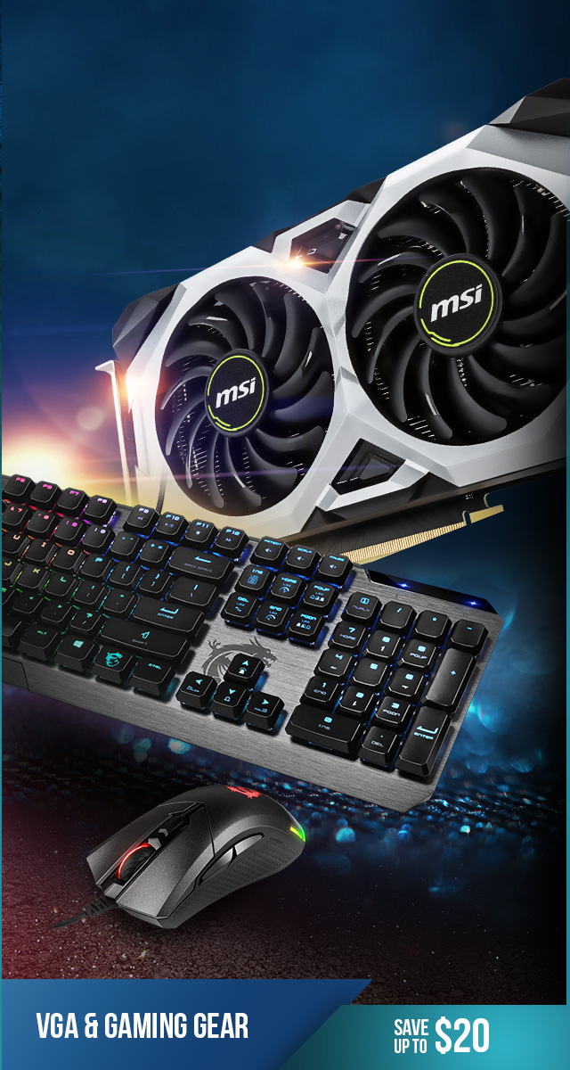Save up to $20 on Graphics Cards and Gaming Gear