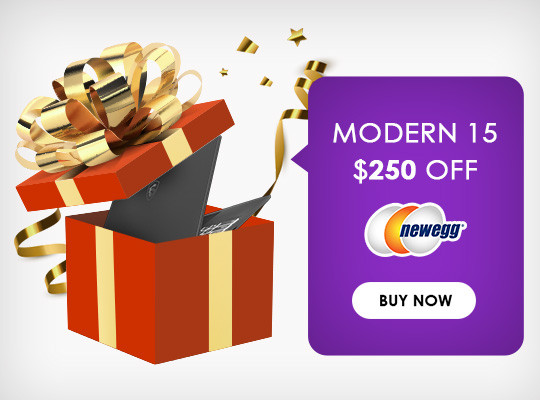 Save $250 on Modern 15 - Click to Buy Now!