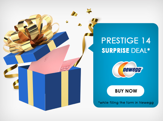 Surprise Deal on Prestige 14 - Click to Buy Now!