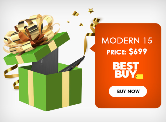 Save $699 on Modern 15 - Click to Buy Now!