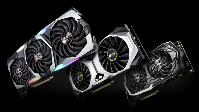 MSI Geforce RTX Video Cards.