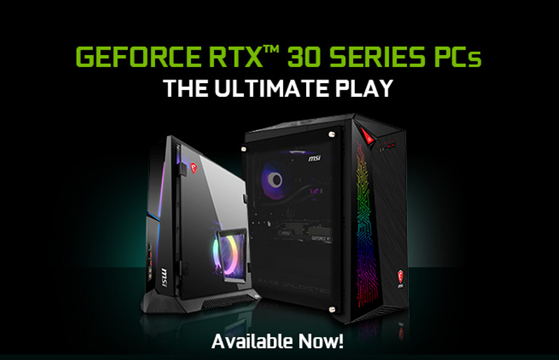 MSI's GeForce RTX 30 Series Featuring NVIDIA Ampere Graphics Available Now